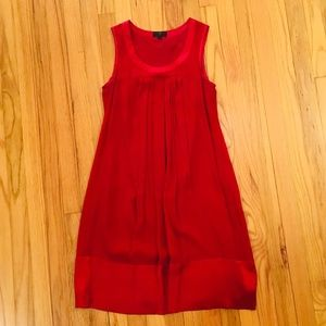 Banana Republic Monograph Maroon Chiffon Dress - S